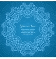 Ornamental round blue lace pattern 3 vector image vector image