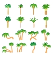 Palm icons set cartoon style vector image vector image