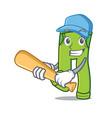 playing baseball pants character cartoon style vector image