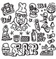 rap hip hop - doodles set vector image vector image