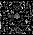 seamless pattern with white abstract symbols 2 vector image