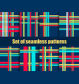 set of seamless patterns with lines christmas vector image