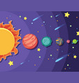 set of solar system vector image