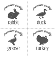 Set of vintage butchery meat stamps logo and vector image