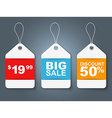 Set tags blue red and orange vector image vector image