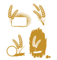 Set with ears of wheat vector | Price: 1 Credit (USD $1)