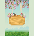 spring poster template vector image vector image