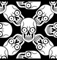 tattoo skull seamless pattern vector image