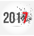 text 2017 and explosion vector image vector image