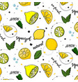 trendy summer decoration lemon fruit vector image vector image