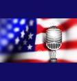 usa flag with mic vector image