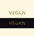 vegan banner set vector image