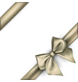 white holiday background with golden bow vector image vector image