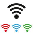 wifi icon set colored vector image