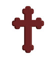 wooden cross icon vector image vector image