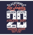Athletics typography t-shirt graphics vector image
