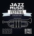 jazz musical festival flyer vector image