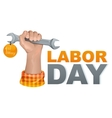 1 may labor day Hand fist holding wrench vector image