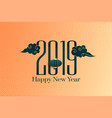 2019 happy chinese new year decorative background vector image vector image