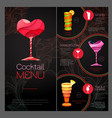 3D cocktail design Happy Valentines day vector image