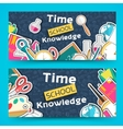 back to school abstract background of flat icons vector image vector image