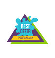 best offer premium sticker vector image