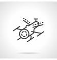 Black line drone icon vector image vector image