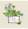 boho flowers vector image