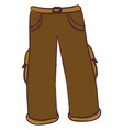 brown pants on white background vector image vector image