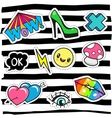 Cartoon patch badges or pin badges vector image