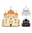 christian church icons vector image vector image