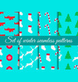 christmas seamless pattern set with candy canes vector image vector image