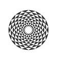 circular fractal design element vector image vector image