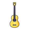 classic guitar instrument on white background vector image vector image
