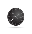 clock antique in grey vector image