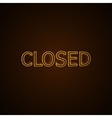 CLOSED neon sign vector image vector image