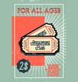 color vintage amusement park banner vector image