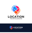colorful pin location symbol logo vector image