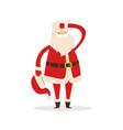 cute santa claus light icon vector image vector image