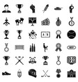 extra prize icons set simple style vector image