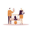 family life - flat design style colorful vector image