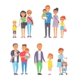 Family people set vector image