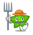 farmer ivy leaf isolated on character cartoon vector image