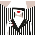 Fashion girl with an umbrella Bold minimal style vector image vector image