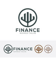 finance logo design vector image vector image