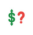 flat design concept of dollar arrow up and down vector image