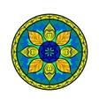 Flower Mandala Dreamcatcher style Ethnic vector image