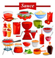food and spice ingredient for chilli and tomato vector image
