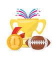 football trophy to competition game champion vector image vector image