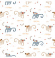 funny monkeys seamless pattern cute apes childish vector image vector image